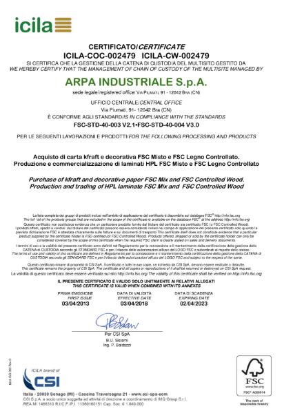 FSC Icila Certificate
