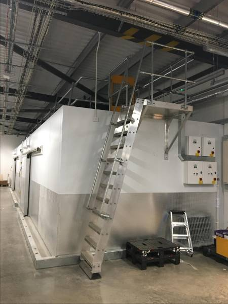 Fixed utilitarian access system - companionway ladder system- Aldi retail stores across the UK