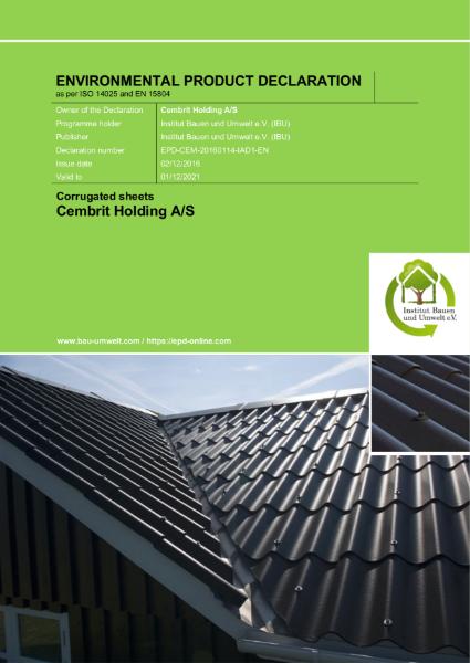 Fibre cement corrugated sheet - EPD