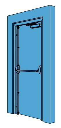 Single Metal Fire Exit Door
