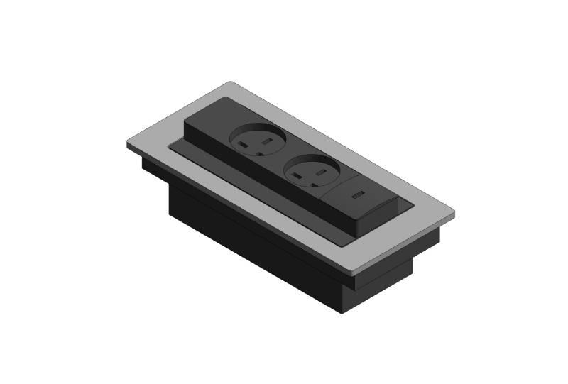 Evoline Backflip Plug Socket