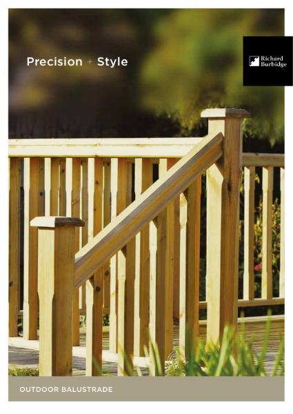 Consumer Brochure Outdoor Decking Balustrade