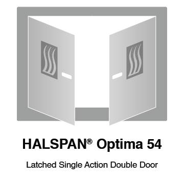 HALSPAN® Optima 54 mm Internal Fire Rated Door Blank - Latched Single Acting Double Doors