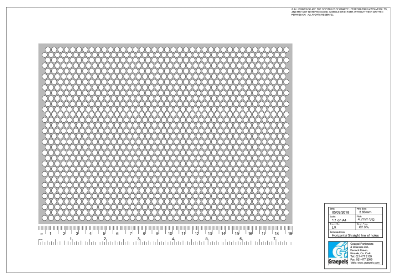 1.1 Scale Sampling of Perforated Sheets (Standard Spec)