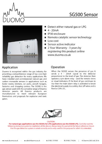 SG500 Datasheet