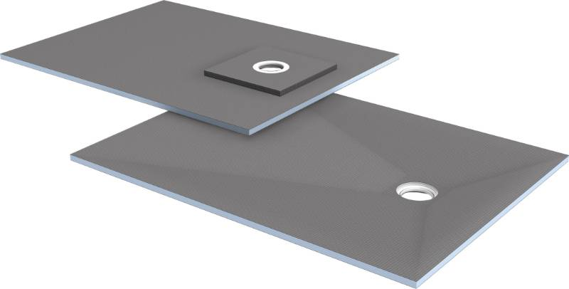 wedi Fundo Ligno floor element, offset drain