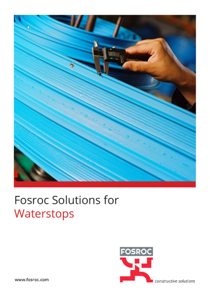 Fosroc Solutions for Waterstops