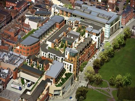 Residential Living Above a Modern Retail Development