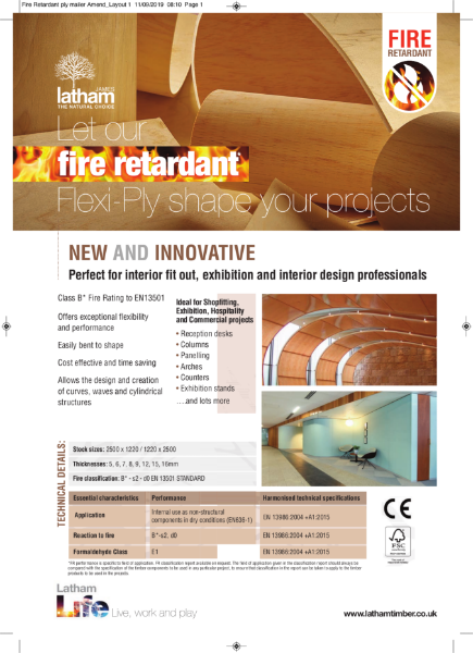 Fire Retardant Flexible Plywood