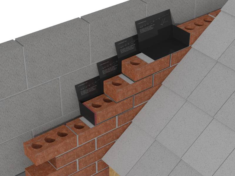 Poly Strip Unleaded  Everdry Stepped Cavity Trays for Brickwork