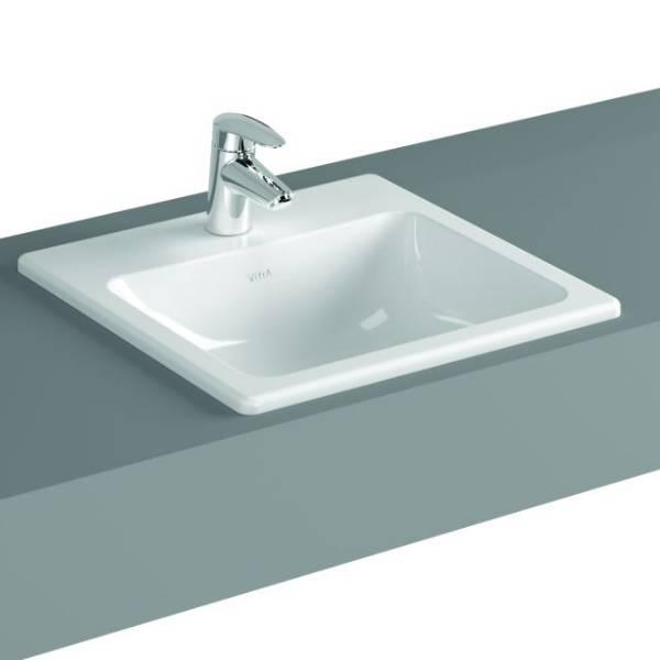 VitrA S20 Counter-top Basin, 45 cm, Square, 5463