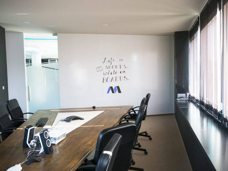Whiteboard paint turns MentorMate walls into creativity and collaboration surfaces