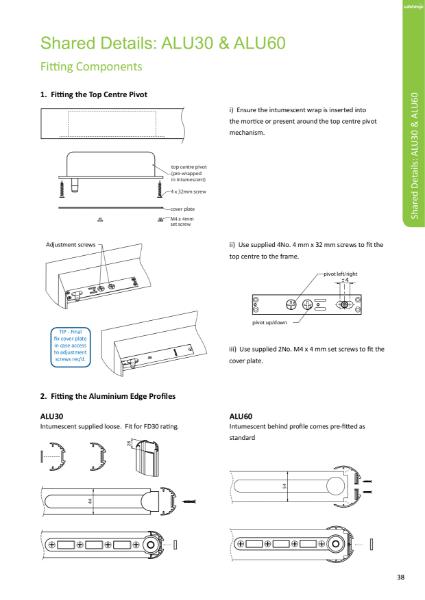 Alumax - Product fitting instructions