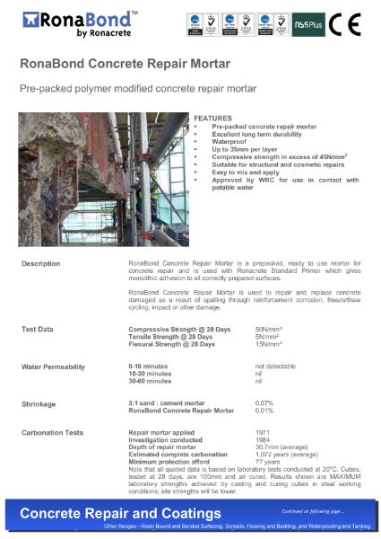 RonaBond Concrete Repair Mortar