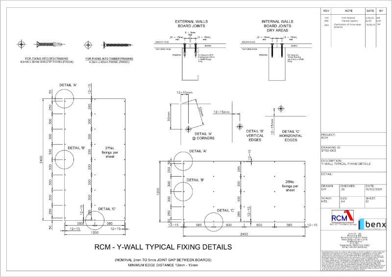 Y-Wall Fixing Guide