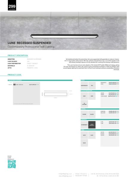 Lune Recessed Suspended Feature Lighting Datasheet