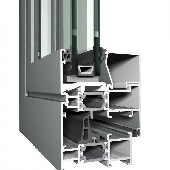 Aluminium Window CS 68 Concept System
