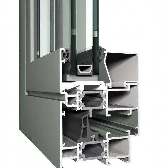 Aluminium Window CS 68 Concept System