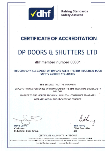 DHF Certificate