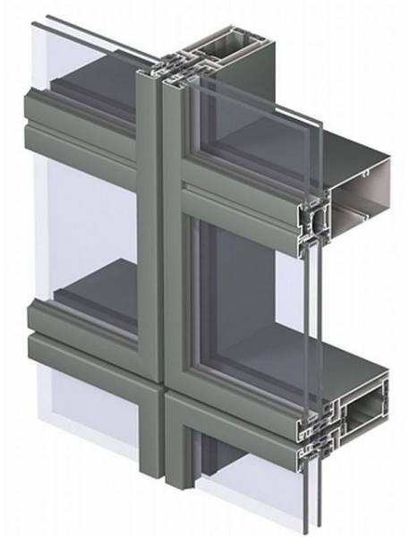 Aluminium Curtain Wall CW 65