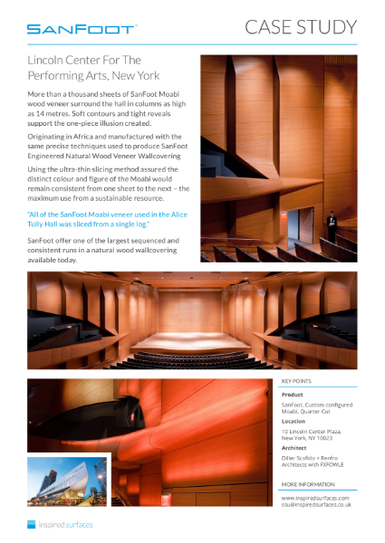 SanFoot Lincoln Center Case Study