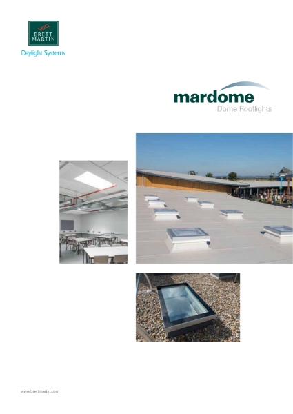 Dome rooflights for flat roofs - Mardome range