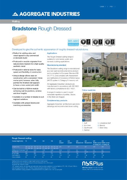 Bradstone Rough Dressed walling