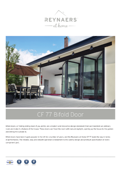 Aluminium Sliding Folding Door for the Domestic Market - CF 77