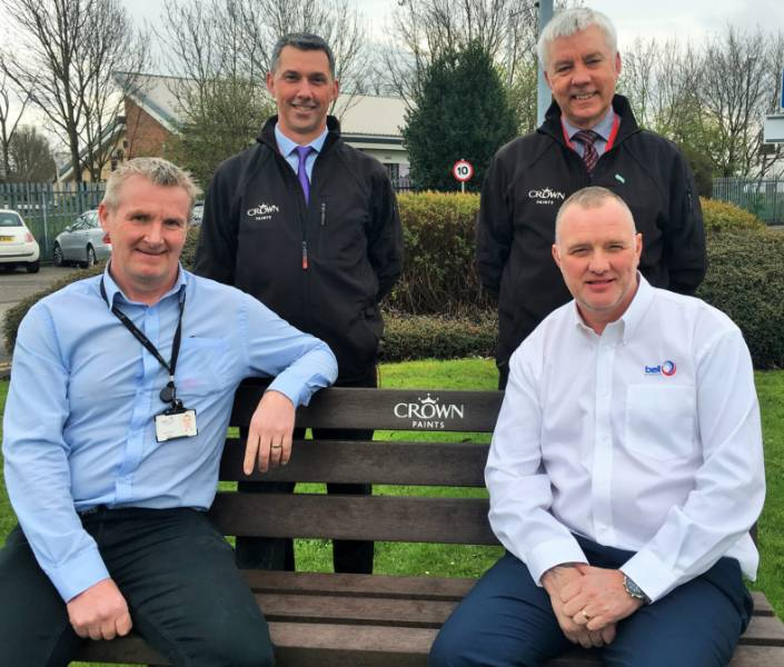 Housing scheme crowns first anniversary with recycled bench