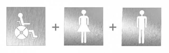 IFS1672X.3.S Pack of 3 Prestige Stainless Steel Door Signs
