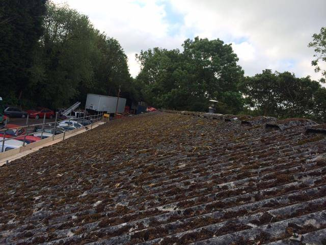 Asbestos Roof Coating Project in Hereford using BBA Approved Asbestoseal