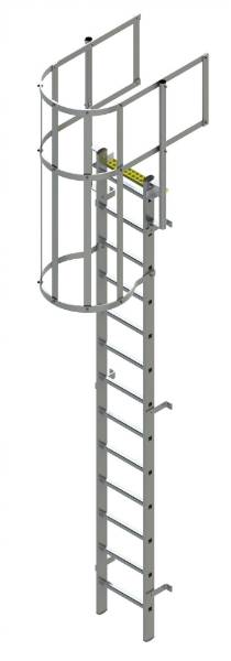 Bilco Ladders BL-A-WG -Fixed Vertical Ladder with safety cage and guardrail