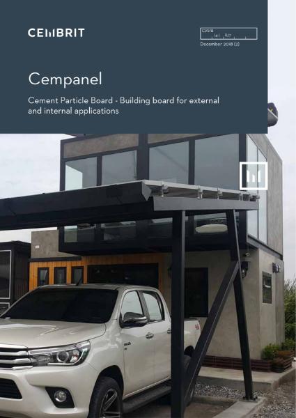 Cempanel, cement particle board