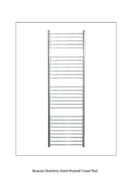 Beacon 520 Stainless Steel Heated Towel Rail