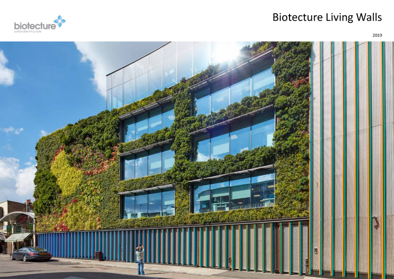 Biotecture - External Living Walls product introduction