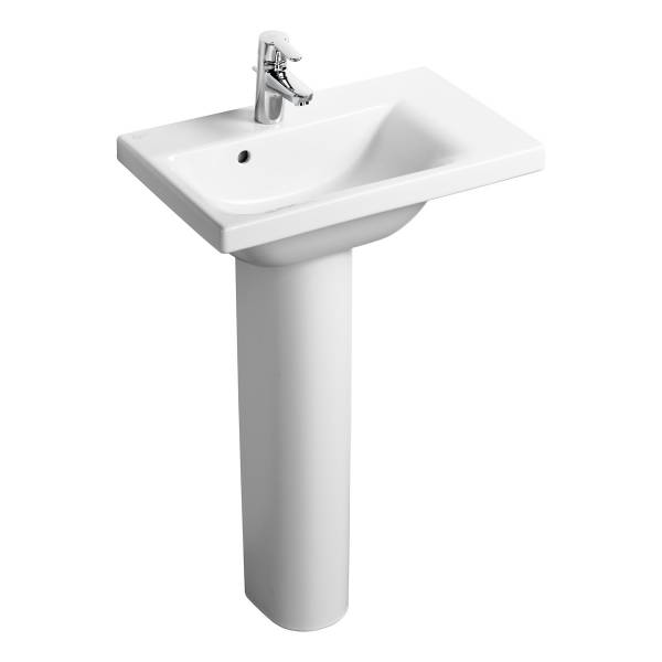 Concept Space 60 cm Washbasin, right hand platform