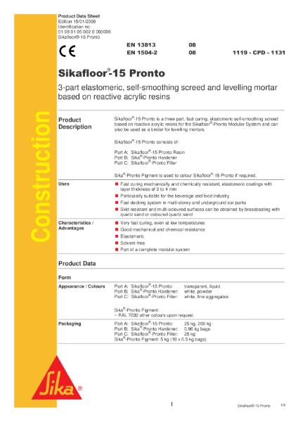 Sikafloor 15 Pronto