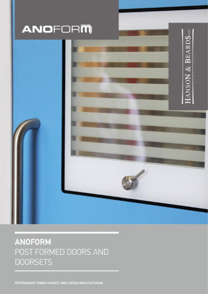 """ANOFORM"" Post Formed Timber Doors and Doorsets by Hanson and Beards Ltd"