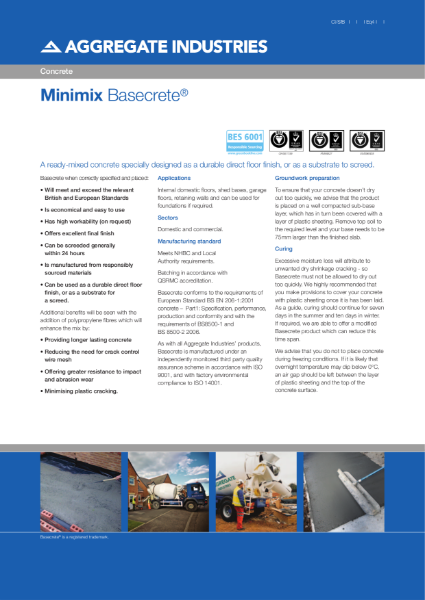 Basecrete® ready-mixed concrete