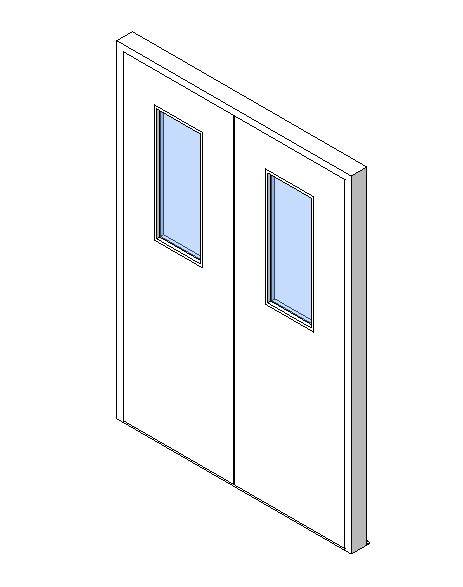 External Double Door, Vision Panel Style VP06