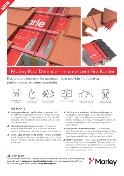 Roof Defence Fire Barrier one pager