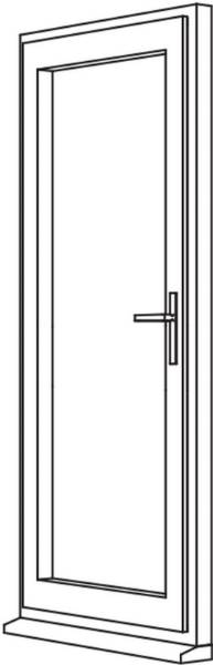 Traditional 2500 Residential Door - R1 Open Out