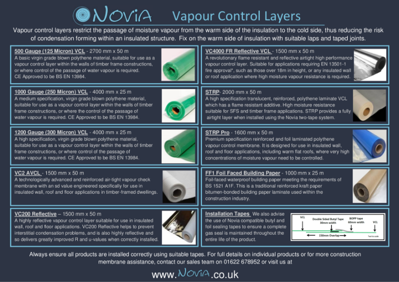 Novia Vapour Control Layer