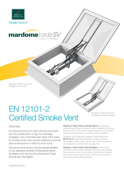 Smoke Vent Rooflight - Mardome Trade