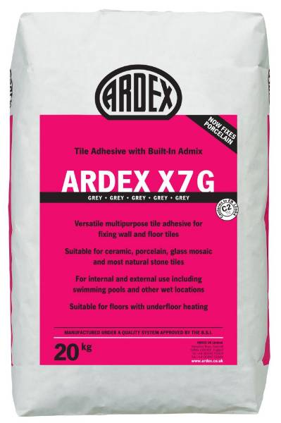 ARDEX X 7Standard Setting Flexible Tile Adhesive in White