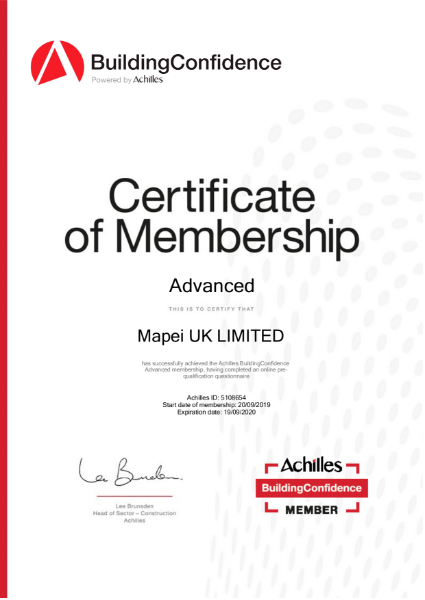 Achilles Certificate Advanced 2019
