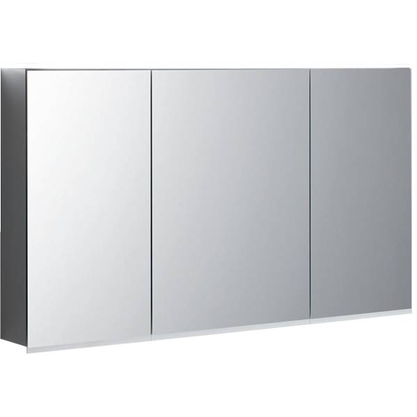 Option Plus mirror cabinet with lighting and three doors